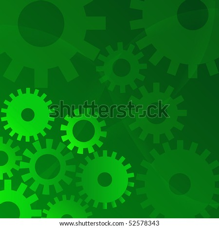 Gears Concept Illustration - stock photo