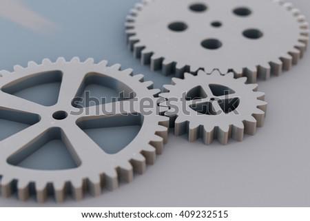 Gears(3D rendering) - stock photo