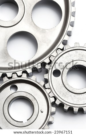 gears engagement zoom - stock photo