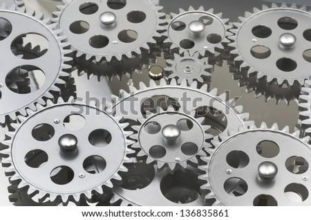 Gears Interlocked - stock photo