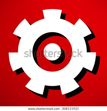 security concept row painted red eye stock illustration