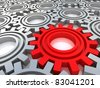 Gears isolated on white. Work concept. - stock vector