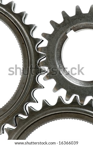 gears isolated over white, please check out my portfolio for more - stock photo