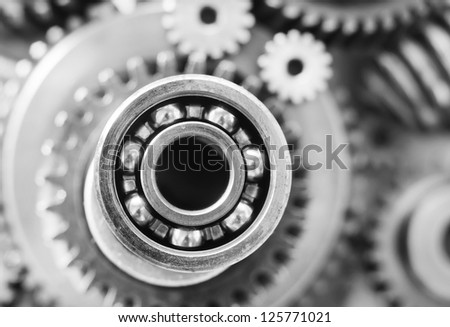 gears,nuts and bolts - stock photo