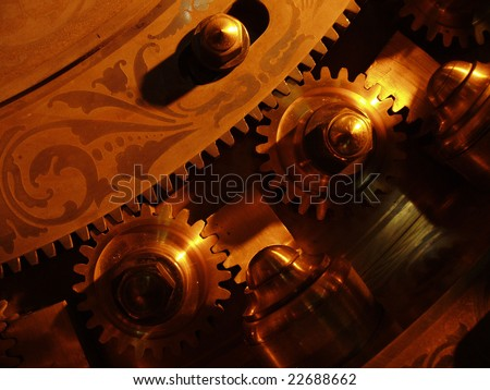 gears of a safe - stock photo