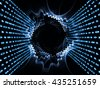 Gears of Code series. Arrangement of digits and fractal gears on the subject of math, science and education - stock photo