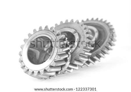 gears of transmission - stock photo