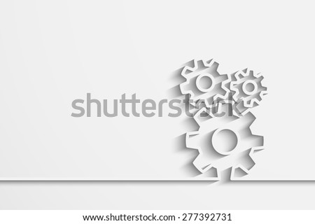 gears on a creative background for your design - stock photo