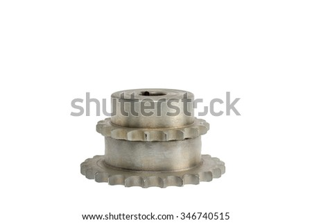 Gears on a white background - stock photo