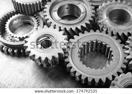 gears on metal background