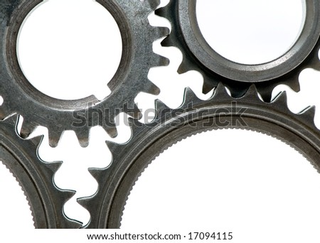 gears representing teamwork isolated over white background - stock photo