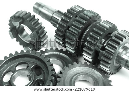 Gears set contacts - stock photo