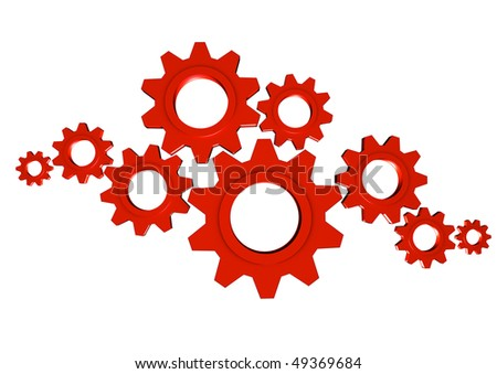 Gears Team Work; great for teamwork, collaboration and progress concepts - stock photo