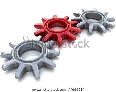 Gears. Work concept. - stock photo