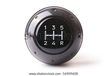 gearshift on white background - stock photo