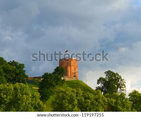 Gediminas Tower, Vilnius, Lithuania - stock photo