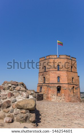 Gedminas tower in Vilnius, the capitol of Lithuania