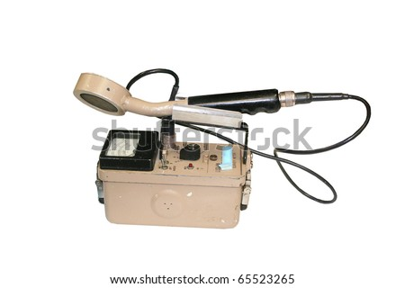 Geiger counter isolated on white - stock photo