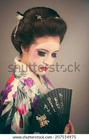 geisha - stock photo