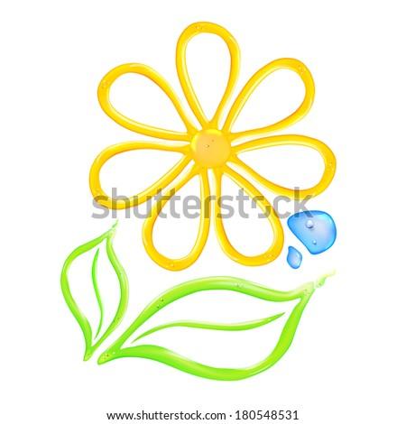 Gel flower icon.  illustration. - stock photo