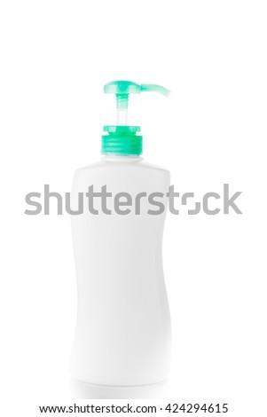 Gel, Foam or Liquid Soap Dispenser pump plastic bottle - stock photo