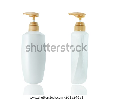 Gel, Foam Or Liquid Soap Dispenser Pump Plastic Bottle White. - stock photo