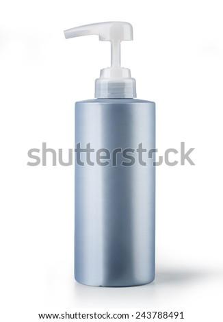 Gel, Foam Or Liquid Soap Dispenser Pump Plastic Bottle with clipping path - stock photo