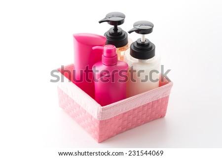 Gel, Foam Or Liquid Soap Plastic Bottle White - stock photo