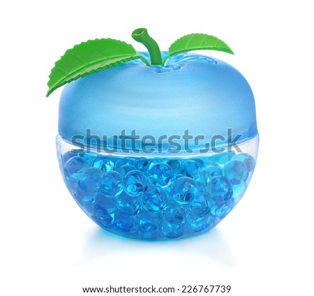 Gel fragrance air freshener isolated on white - stock photo