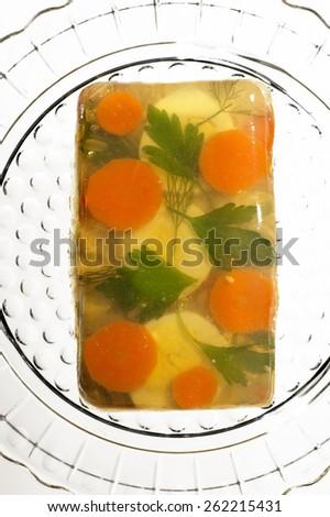 Gelatin Salad - stock photo