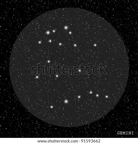 Gemini Zodiac Constellation - stock photo