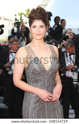 Gemma Arterton arriving for the 'Madagascar 3' premiere- during the 65th Cannes Film Festival Cannes, France. 18/05/2012 Picture by: Henry Harris / Featureflash