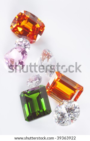 gems,mini collection - stock photo