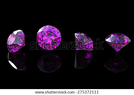 Gemstone. Collections of jewelry background. Amethyst