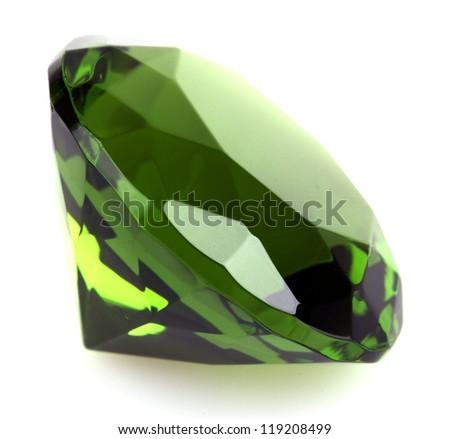 gemstone isolated on white - stock photo