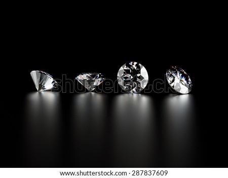 Gemstone on black. Jewelry background.  - stock photo