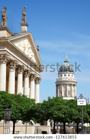 Gendarmenmarkt, German and French cathedral in Berlin