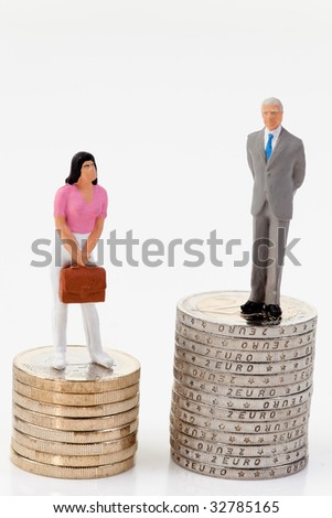Gender differences ibei payment - stock photo