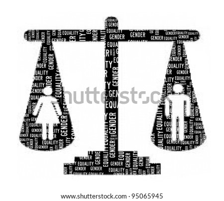 Gender Equality Concept in Word Collage - stock photo