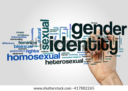 Gender identity word cloud concept - stock photo