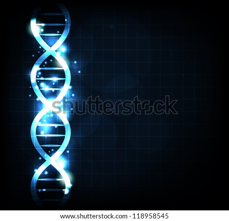 Gene chain, abstract background. Can be used as medical, genetic, pharmaceutical, science industries.