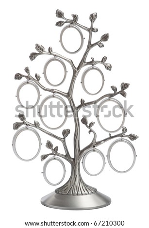 genealogical family tree - stock photo