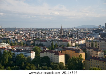 General city view from Vienna