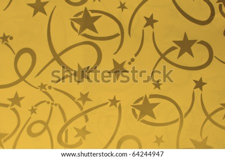 General design of orange Seamless pattern with star and line No copyright because it is my own design - stock photo