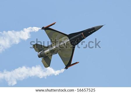 General Dynamics F16 - stock photo