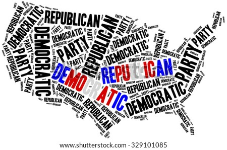 General election in USA or voting. Democratic and republican party.