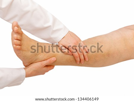 General physical examination for the lower limbs - stock photo