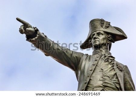 General Rochambeau Statue Lafayette Park Washington DC. French General, worked with Washington American Revolution.  Statue dedicated 1902. Sculptor Fernand Hamar - stock photo