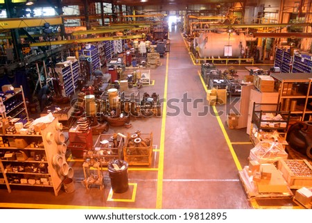 General Shop Floor of Manufacturing Company - stock photo