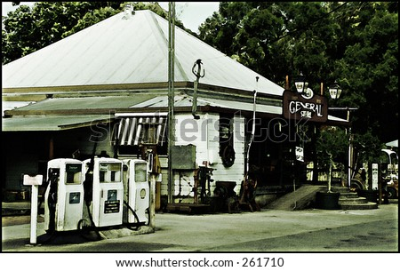 General Store, artistic filters - stock photo
